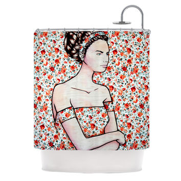 """Brittany Guarino """"Spring Fashion"""" Wood Flowers Shower Curtain"""
