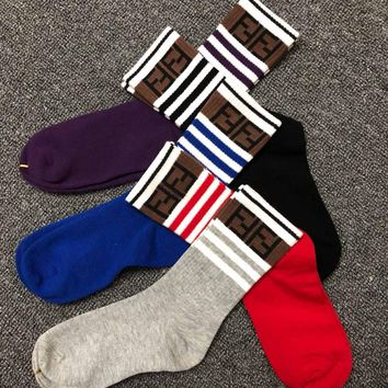 FENDI FF Cotton Socks - Boxed