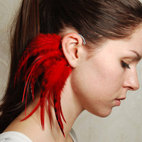 Feather Ear Cuff In my Memory by Njuu on Etsy