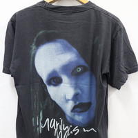 Vintage 1990s MARILYN Manson Industrial Metal Punk Concert T shirt