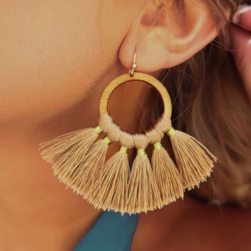 Love Me Earrings: Taupe