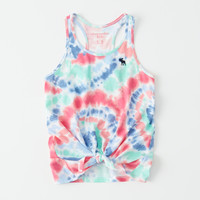 girls tie-front tank | girls tops | Abercrombie.com