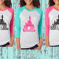 Bride's Entourage Tri-Blend 3/4-Sleeve Raglan - Fairytale Bachelorette Party Tops - Disney Inspired - Unisex Tri-Blend 3/4-Sleeve Raglan