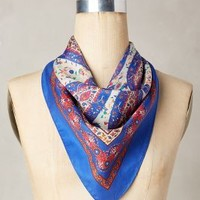 Madigan Silk Kerchief by Anthropologie in Blue Size: One Size Accessories
