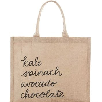 Fair Trade Large Gift Message Bag - Grocery List | The Little Market