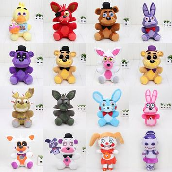 25cm - 30cm  Toys  At Freddy Plush Toy Bear Fox Bonnie Chica Golden Freddy Nightmare Fredbear Kids Plush Toys
