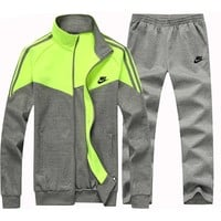 Nike Fashion Casual Cardigan Jacket Coat Pants Trousers Set Two-Piece-4