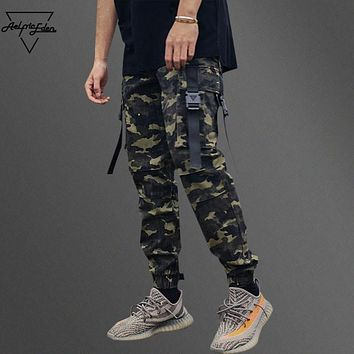 auguau Aelfric Eden Man Large Pocket Spliced Camouflage Cargo Pants