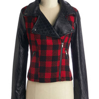 ModCloth Urban Short Length Long Sleeve Adventure is Haute There Jacket