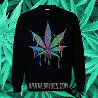 Hologram Trippy Drippy WEED Sweatshirt