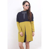 Color Blocking L/S Oversized Knit Coat