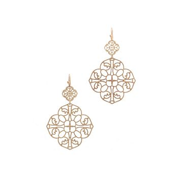 Casablanca Yellow Gold or Silver Dangle Earrings