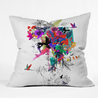 Holly Sharpe Tropical Girl 1 Throw Pillow