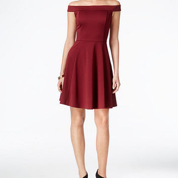ECI Off-The-Shoulder Fit & Flare Dress | macys.com
