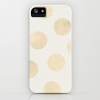 Gold Polka Dots iPhone & iPod Case by Georgiana Paraschiv