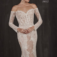 Cassandra by Calla Blanche 16112 Off the Shoulder Wedding Dress