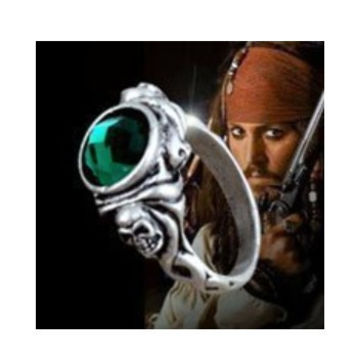 Pirates of the Caribbean Ring Captain Jack Sparrow Death Finches Skull Ring