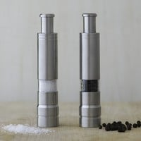 Fletchers' Mill One Handed Stainless-Steel Salt & Pepper Mills