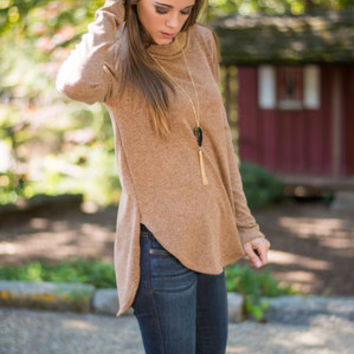 Indulge In Design Sweater, Camel