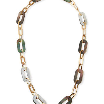 Vhernier Mixed Mother-of-Pearl Link Necklace in 18K Rose Gold