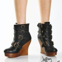 frey Campbell Bjork Black Leather Ankle Boots - $211.00