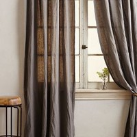 Garment-Dyed Linen Curtain by Anthropologie
