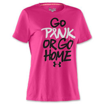 Under Armour PIP Go Pink or Go Home Women's Tee Shirt
