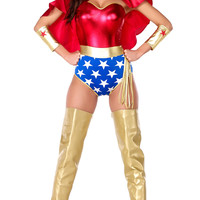 Wonder Woman Costume - Red/Blue