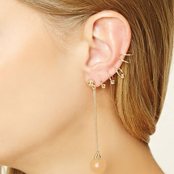 Ear Cuff and Drop Earring Set