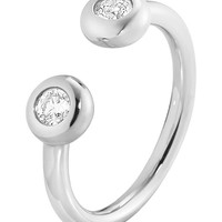 GEORG JENSEN - Aurora 18ct white-gold and diamond ring | Selfridges.com