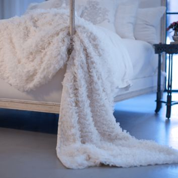 Coco White Sheer Throw by Lili Alessandra