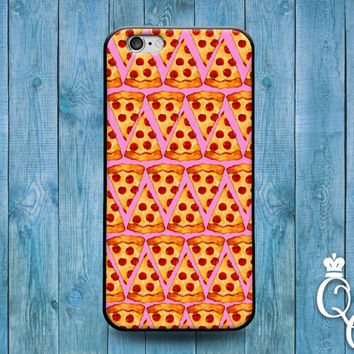 iPhone 4 4s 5 5s 5c 6 6s plus + iPod Touch 4th 5th 6th Gen Cover Funny Custom Pink Pizza Slice Phone Case Cute Food Foodie Fun Creative Cool