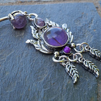 Amethyst Belly Button Ring