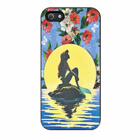 Disney Princess Ariel The Little Mermaid Floral Vintage iPhone 5 Case