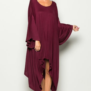 Grecian Goddess Ruby Dress
