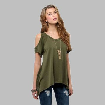 PEAPGB2 2016 Summer fashion solid Tank Tops Women  v-Neck hole on shoulder Loose T Shirt Ladies female sexy clothes loose Vest tanks