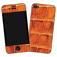 Brown Gator Skin  for the iPhone 4/4S by skinzy.com