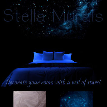Glow in the Dark Star Ceiling Canopy - White - The Southern Cross