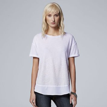 Women's Simply Vera Vera Wang Beaded Tee