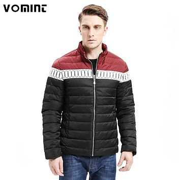 Vomint 2017 Winter New Mens Down Jacket Smart Casual Color Stitching Regular Fit Warm 80% Down Coats Fashion Male F6WI9265