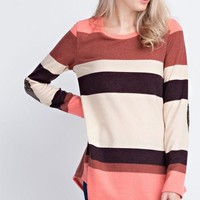 Rachel Striped and Sequined Sweater