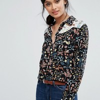 Warehouse Printed Western Shirt at asos.com