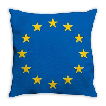 EU Stars Europe, European Union Flag, Symbol, Sign Throw Pillow