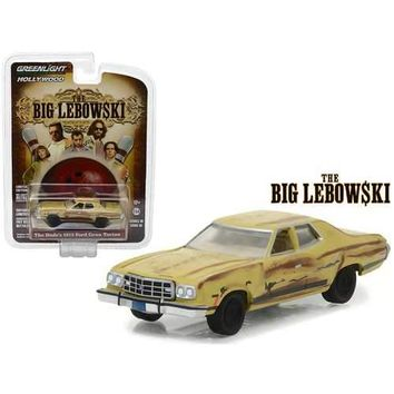 The Dude's 1973 Ford Gran Torino The Big Lebowski Movie (1998) Hollywood Series 18 1/64 Diecast Model Car by Greenlight
