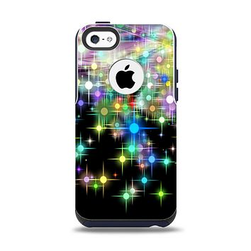 The Multicolored Glistening Lights Apple iPhone 5c Otterbox Commuter Case Skin Set