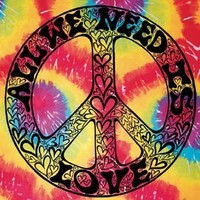 Hippie Tie Die Tapestry All We Need Is Love TD94