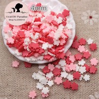 1000pcs/pack 4mm Mix Colors Flat Flower Fimo Polymer Clay Slices Sticks Nail Tips Decoration/Craft Scrapbooking,QP015