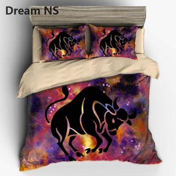 AHSNME 12 Constellation Taurus Pattern Bedding Set Chic Design Bedspreads Australia Duvet Cover US EU AU Size King Bed set