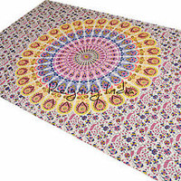 100% Cotton Printed Mandala Tapestry ,Indian Wall Hanging ,Hippie bohemian 2968