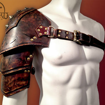 Barbarian Leather Shoulder Armour